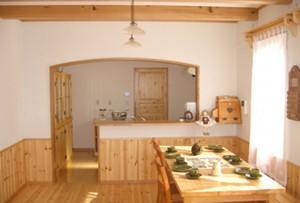 木 キッチン 対面