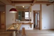 木の家 リビング