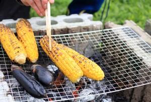 トウモロコシ 炭火