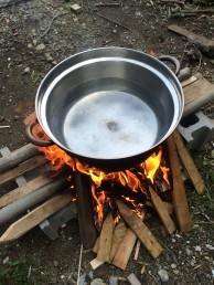 トウモロコシ たき火