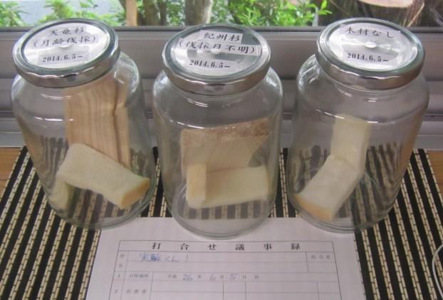 パン 無垢材 実験