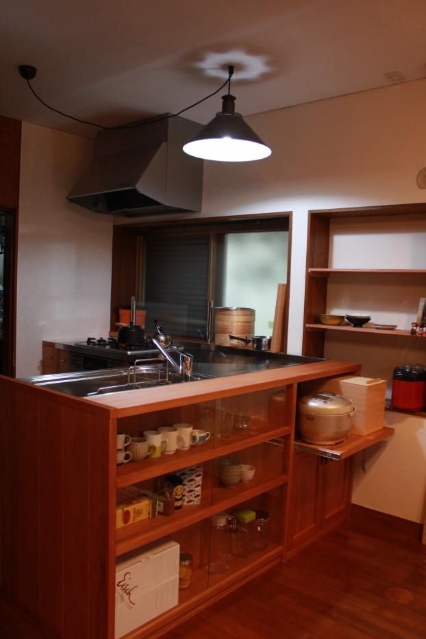 秦野市木の造作キッチン