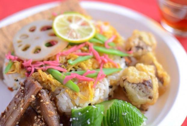 発酵茶と発酵精進ちらし寿司ランチ