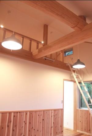愛川町木の家勾配天井