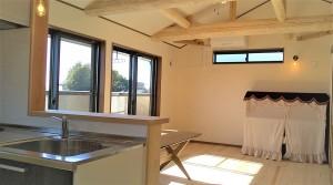 厚木市木の家二階リビング
